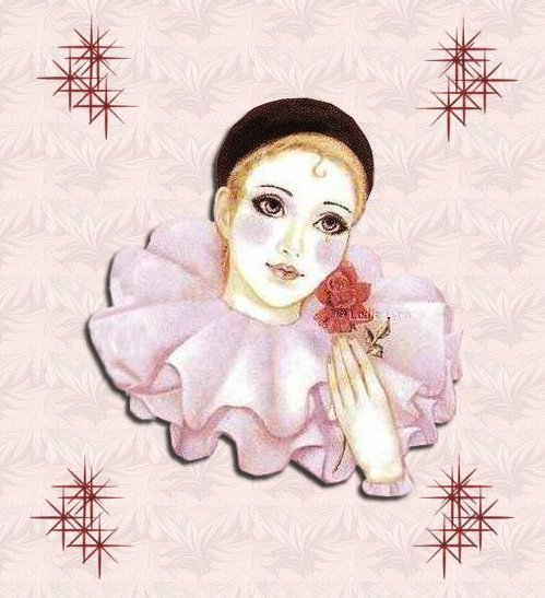 A typically kitsch pierrot