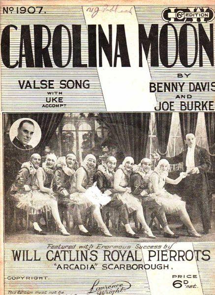 Taflen i gydfynd â'r gân Carolina Moon