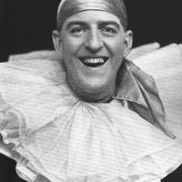 Stanley Holloway as a pierrot in 'The Co-Optimists'