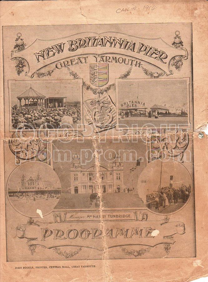 Catlin's Royal Pierrots programme, Great Yarmouth, 1914