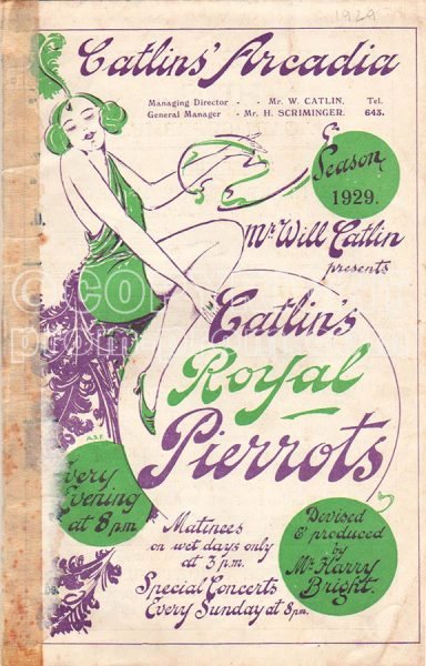 Catlin's Royal Pierrots Programme, 1929, Scarborough