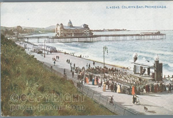 Colwyn Bay promenade postcard colour