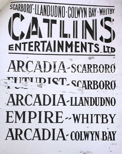 Poster showing locations for Catlins Entertainments Ltd
