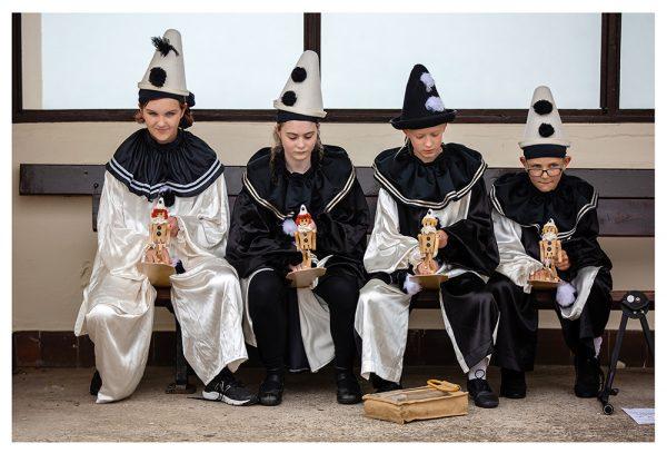 The Jollies rehearsal photos on Llandudno promenade with puppets