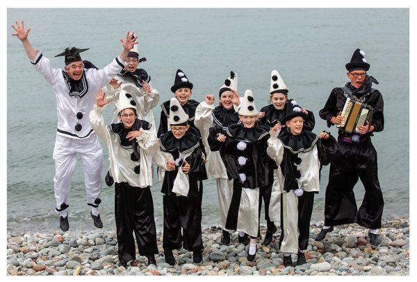 The Jollies rehearsal photos on Llandudno beach