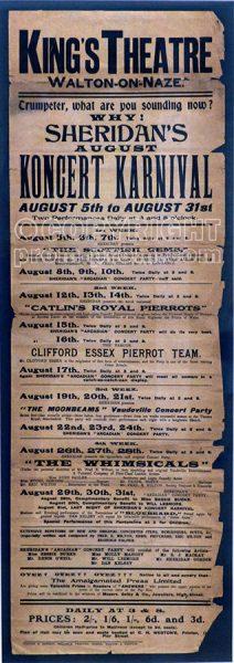 Rare pierrot bill poster, circa 1911