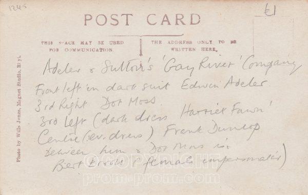 Adeler & Sutton's Gay River Company, Rhyl (Back)