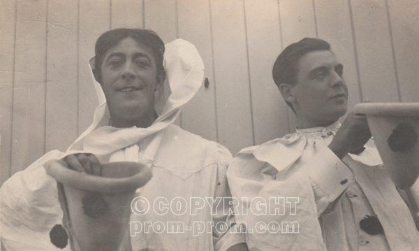 Charlie Harvey & ANother, Adeler & Sutton's Pierrots, Rhyl, 1905