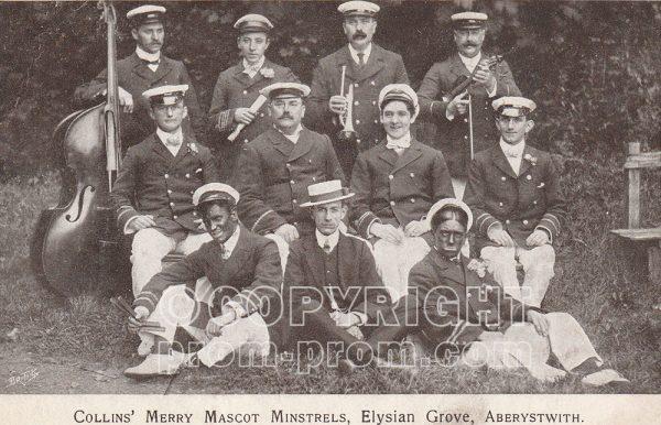 Collins' Merry Mascot Minstrels, Elysian Grove, Aberystwyth, 1906