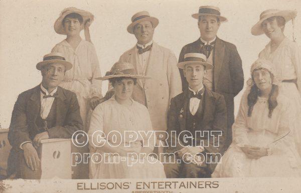 Postcard Ellison's Entertainers, Aberystwyth, (front)