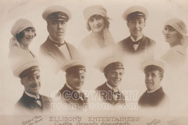 Ellison's Entertainers, Castle Grounds, 1923, Aberystwyth, (back)