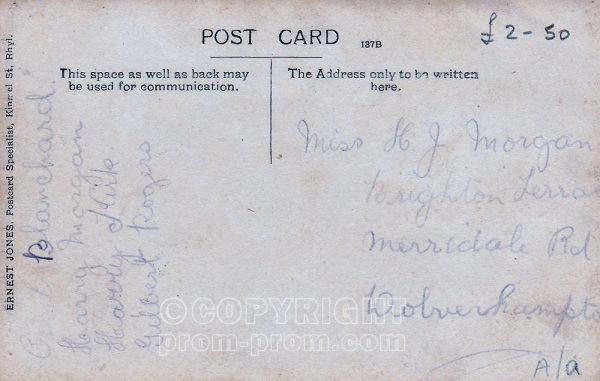 Gilbert Rogers' Jovial Jesters, Rhyl (Back), 1910