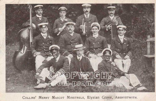 Harry Collins' Merry Mascot Minstrels, Elysian Grove, Aberystwyth, 1906
