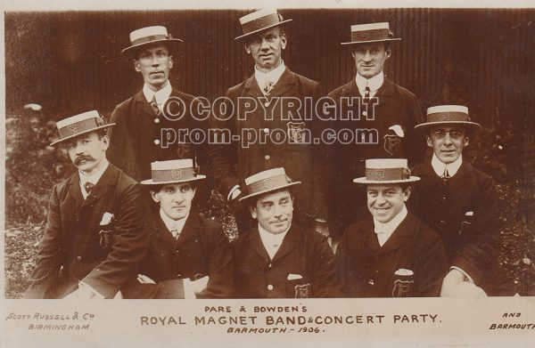 Pare & Bowden's Royal Magnet Band & Concert Party, Barmouth, 1906