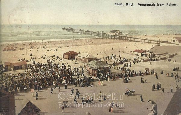 "Pierrot pitch at Rhyl ""Promenade from Palace"""