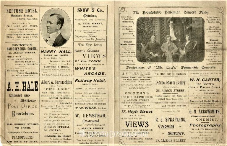 Broadstairs Bohemian Concert Party programme (1027 Bristol University Archive)U