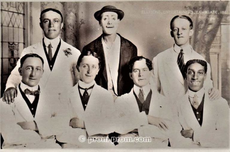 Ellison's Entertainers, Ramsgate, 1911 (Ellison far left sitting)