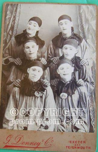 Exeter or Teignmouth pierrot cabinet card