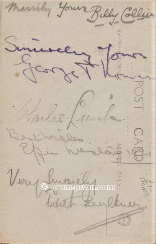 Franklyn Vernon's O P Q's Eastbourne 1921 (back)
