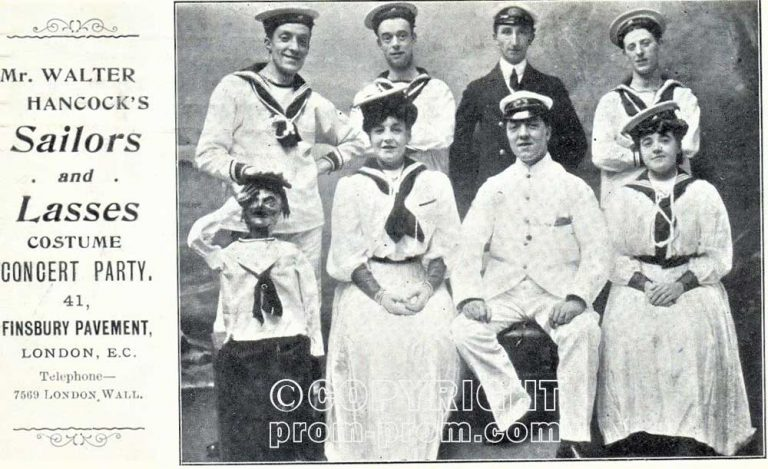 Hancock's SAILORS & LASSES Concert Party London EC-1906