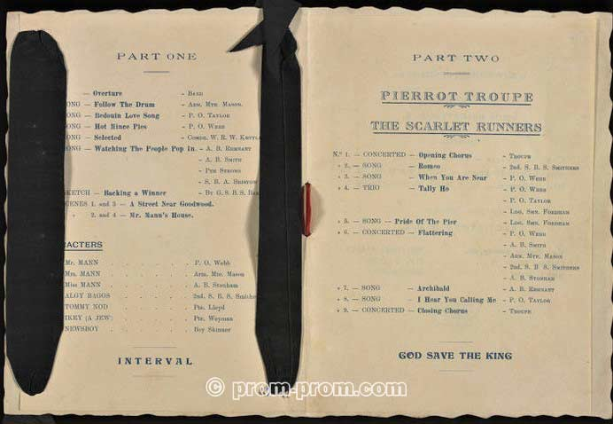 Lena Ashwell programme 3. Victoria & Albert Museum archives