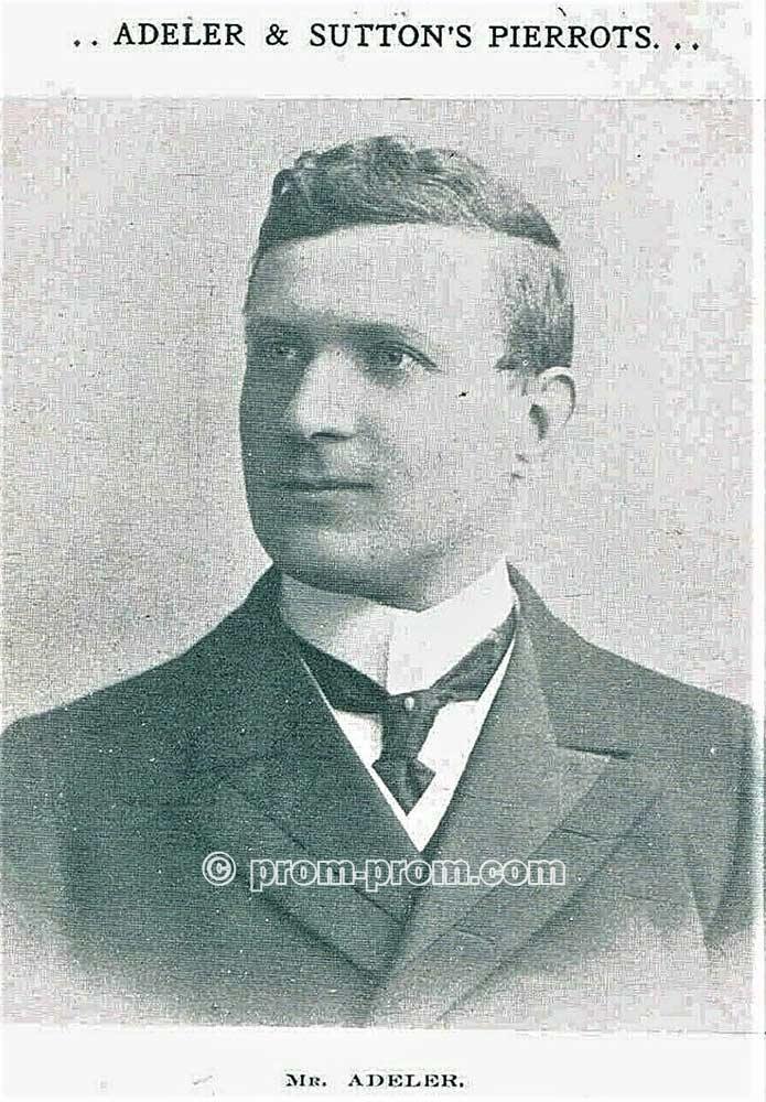 MR ADELER, c1910