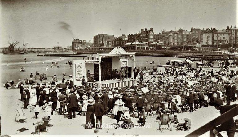 Margate Marine Terrace 1911 - The Troubadours Concert Party