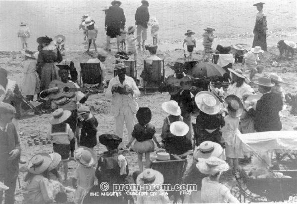 Minstrels on beach Clacton