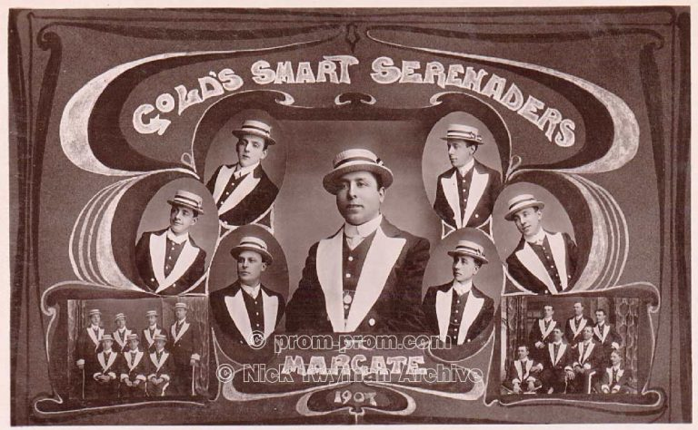 P_E_39_Gold's_Dandy_Coons_1907_(4).*The name of this group uses a racist name. This is our statement about the use of racist terms and the use of blackface in this archive. https://seasidefollies.co.uk/blackface-performance/