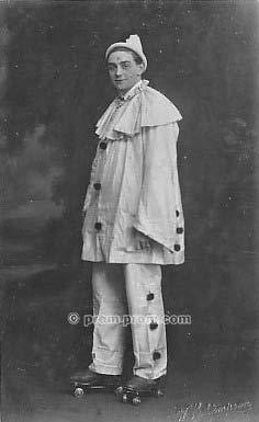 Pierrot on roller skates Kelso 1910