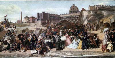 Ramsgate Sands Frith 1854 Minstrels in background