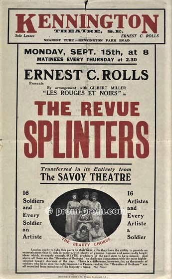 Splinters Revue, 1919 Victoria & Albert Museum archives