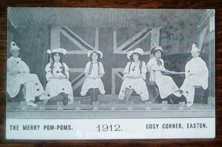 The Merry Pom Poms 1912 Cosy Corner Easton maybe Isle of Wight