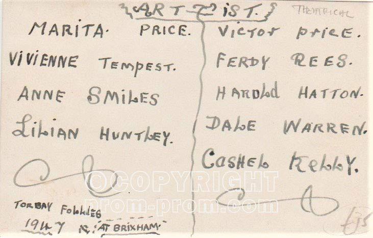 Torbay Follies 1947 names