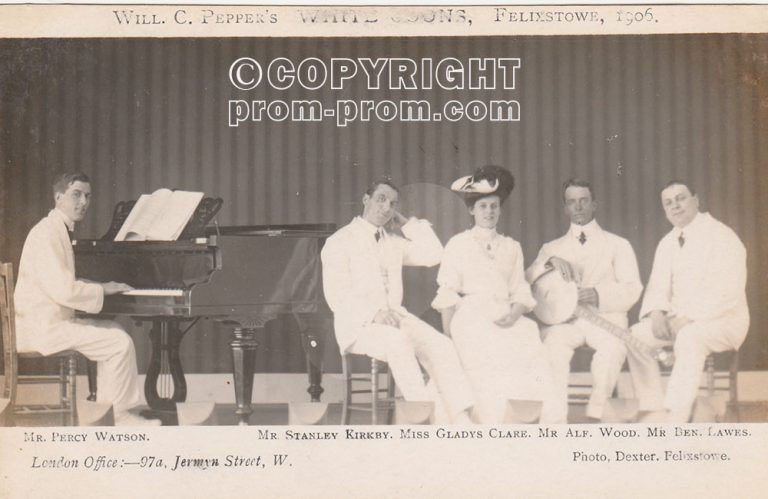 Will C Pepper's White Coons Felixstowe 1906