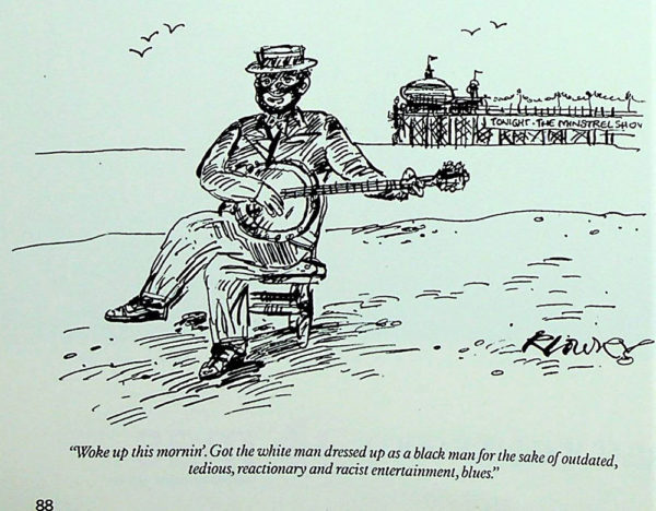 Punch-Cartoon-Minstrel-on-beach