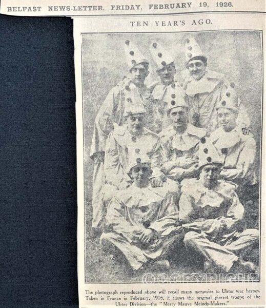 Merry Mauve Melody Makers, Ulster Division 1916