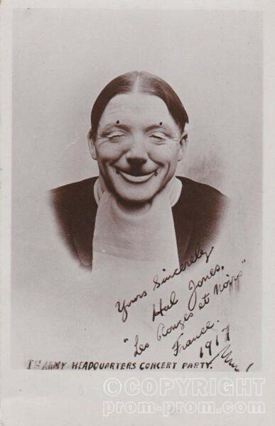 WW 1 Photo Hal Jones 'Les Rouges et Noir', 1st ARMY HQ Concert Party France 1917
