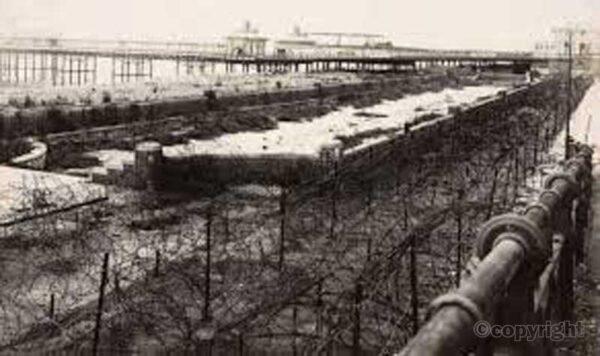 Brighton wartime beach defences