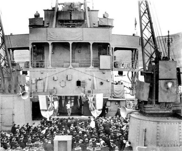 ENSA concert on board ship 1