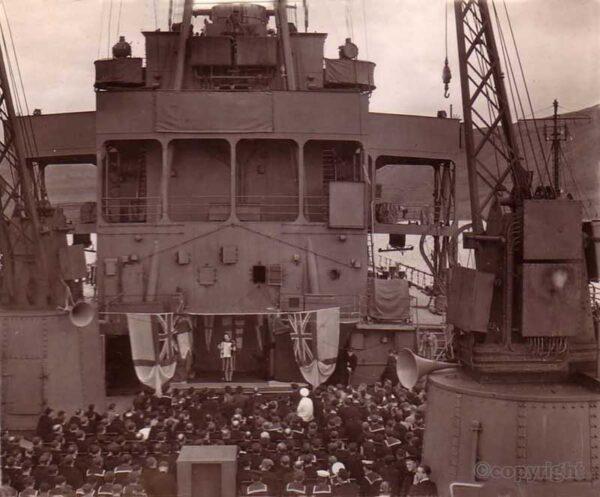 ENSA concert on ship