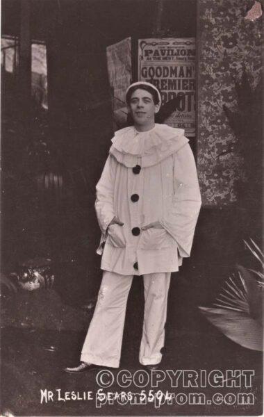Leslie Sears, Goodman's Premier Pierrots, Norwich 1910-11 Copyright The Norwich City FC Historical Trust