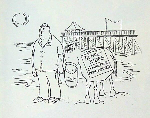 Cartoon (Punch) Donkey Rides