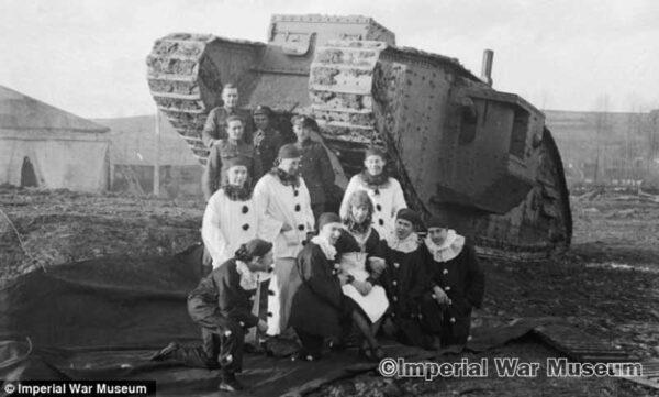 Pierrots & tank - IWM archives