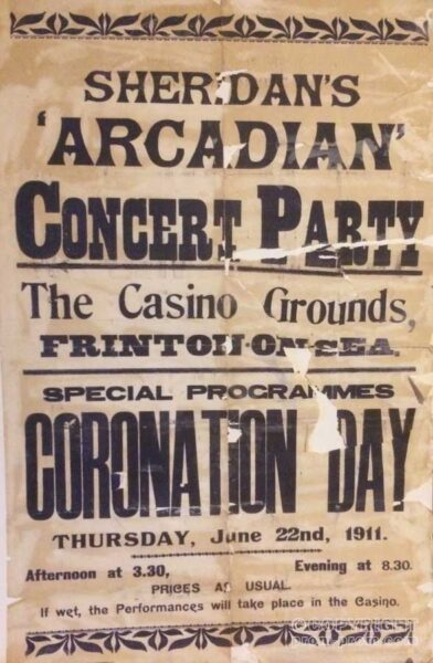 Poster Sheridan's Arcadian Concert Party 1911