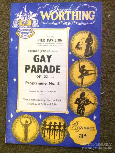 Programme Gay Parade of 1953 Worthing