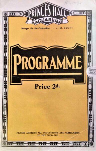 Programme Princes Hall Aquarium