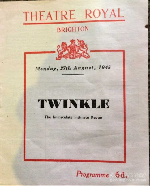 Programme Twinkle Theatre Royal Brighton 1945