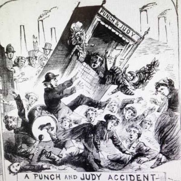 Postcard Punch and Judy Accident
