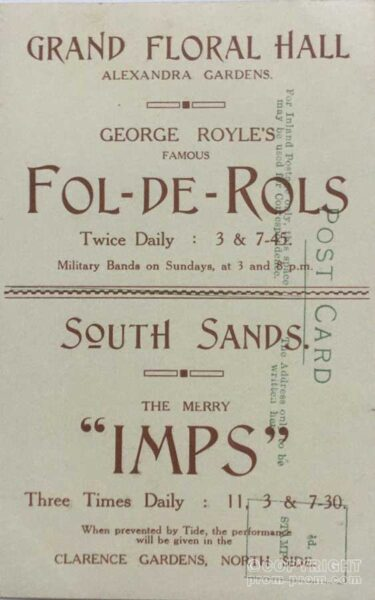 Scarborough Printed Postcard Of George Royle's Fol-de- Rols and Merry Imps
